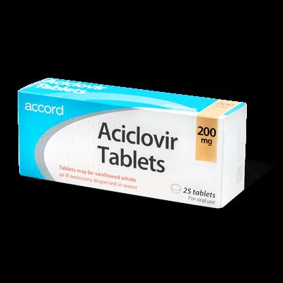 Aciclovir 200mg drug image