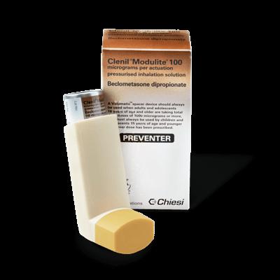 Clenil Modulite 100mcg (1 Inhaler) drug image