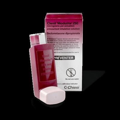 Clenil Modulite 250mcg (1 Inhaler) drug image